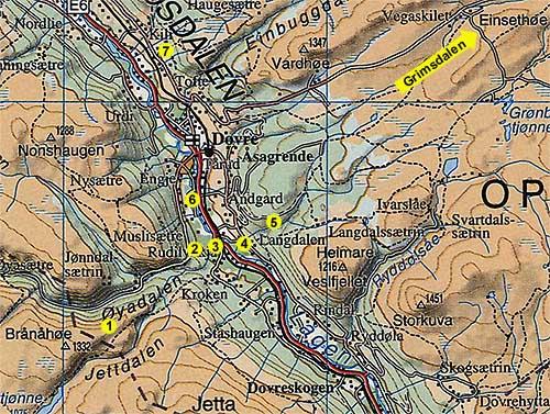 dovrefjell kart Dagsturmål i Dovre dovrefjell kart